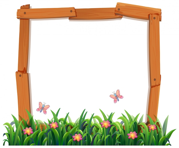 Wood nature frame copyspace