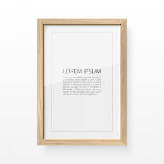 Wood photo frame for image and text