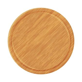 Деревянная тарелка для пиццы.