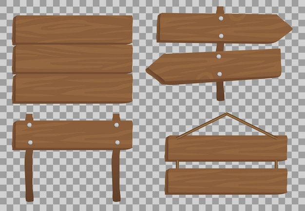 Wood  realistic , banner traffic illustration   , board texture