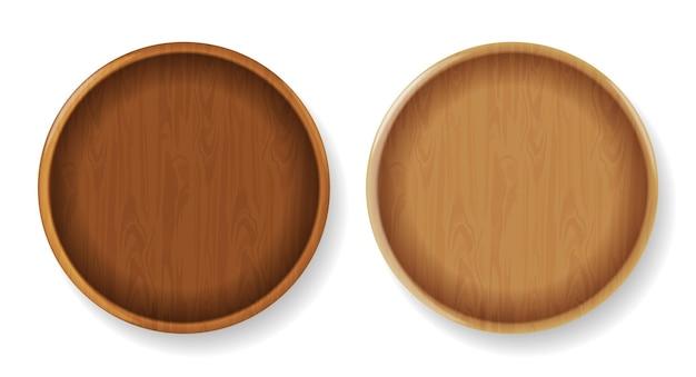 木製の丸皿