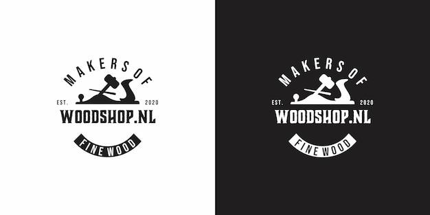Деревянный магазин винтажный дизайн логотипа