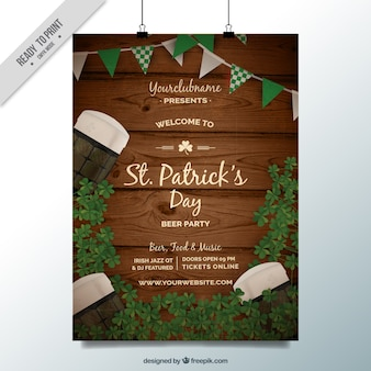 Wood st patrick day poster