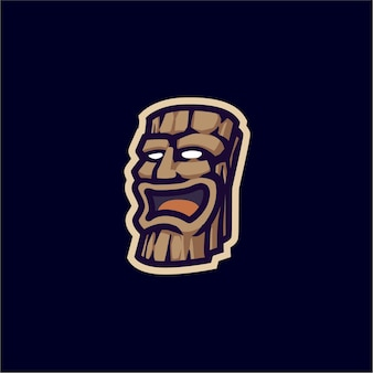 Wood statue mascot