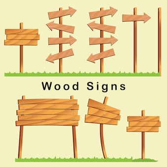 Wood street signs