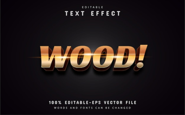 Wood style text effect