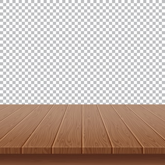Wood table top on isolated background