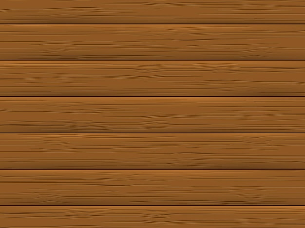 Wood texture, brown plank. wooden background in cartoon style.