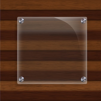 Wood with glass background