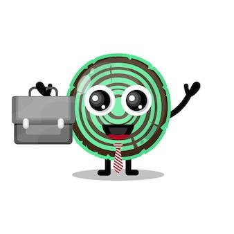 Wood work cute character mascot