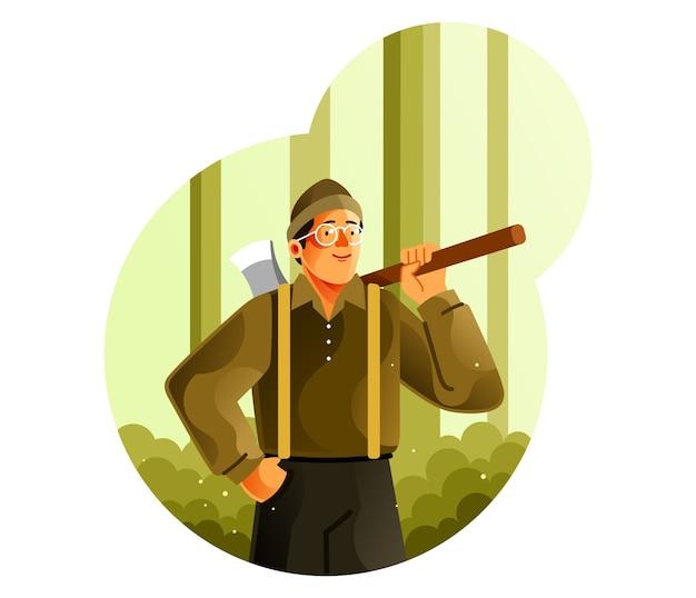 숲에서 나무꾼