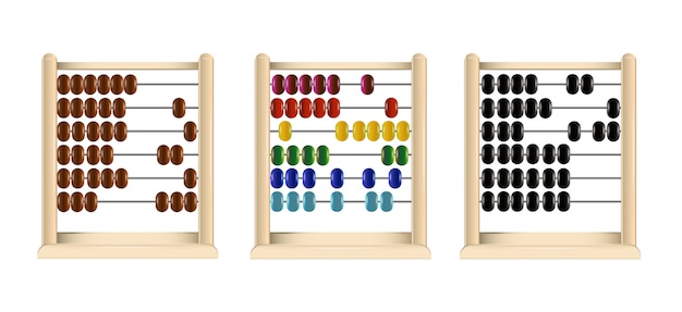 Wooden abacus..