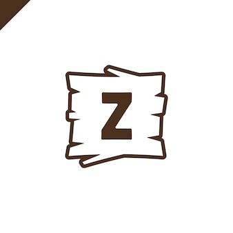 Wooden alphabet blocks with letter z in wood texture