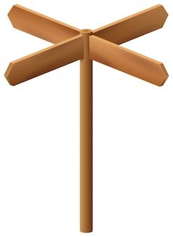Wooden arrow pointer