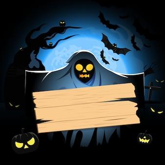 Wooden background halloween
