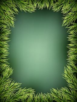 Деревянная предпосылка с елкой рождества.