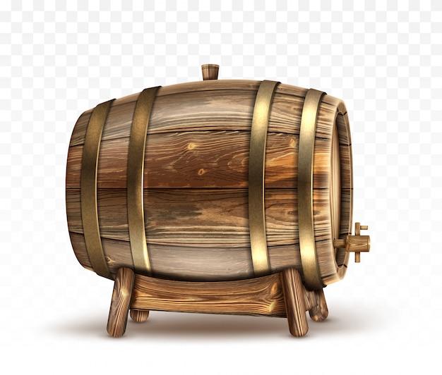 Botte in legno per vino o birra o whisky clipart Vettore gratuito