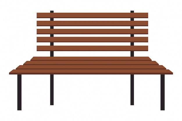 Wooden bench icon