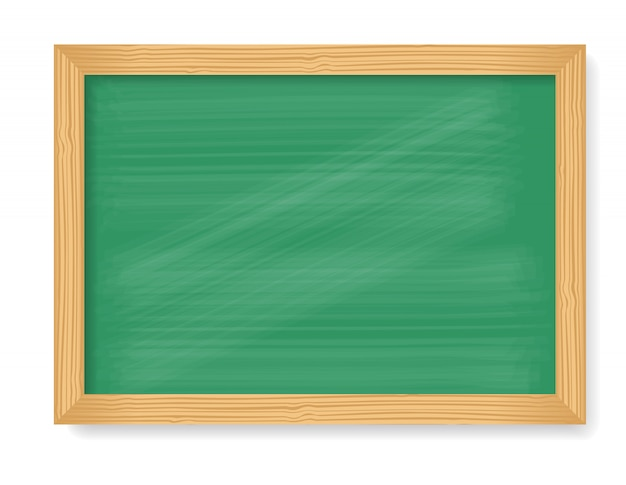 Wooden blackboard isolated on white background