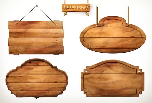 木の板、古い木のベクトルセット