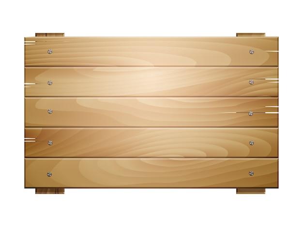 白い背景で隔離の木製ボードサイン
