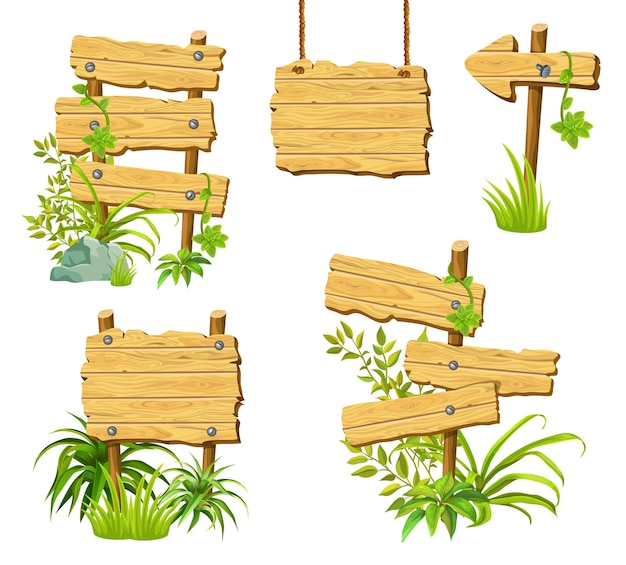 Деревянные доски с пространством для текста.