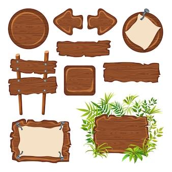 テキストのためのスペースを持つ木の板。