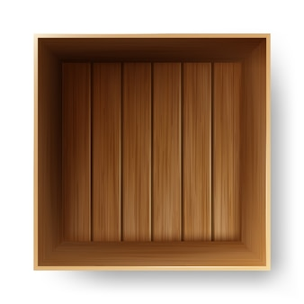 Wooden box container for transportation