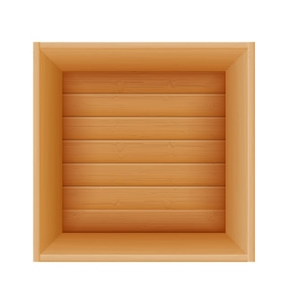 Wooden box for the delivery and transportation of goods made of wood cartoon   illustration  isolated on white background