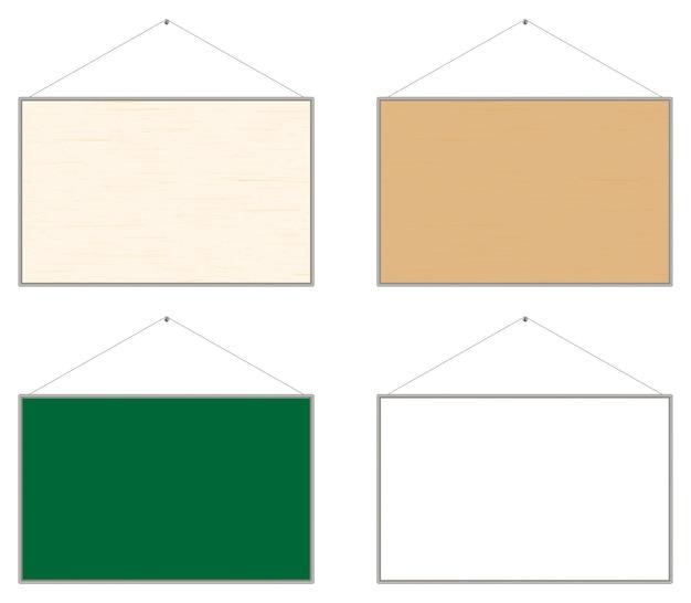 Wooden bulletin notice board vector