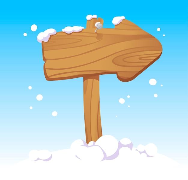 Указатель деревянной рождественской доски
