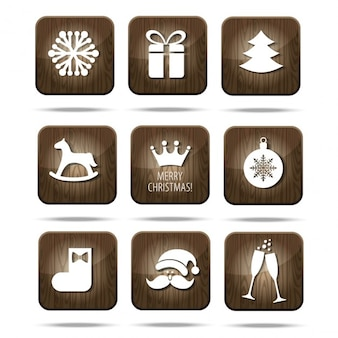 Wooden christmas icons