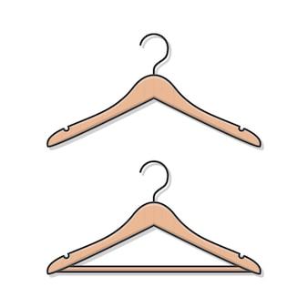 Деревянные вешалки для одежды плоские