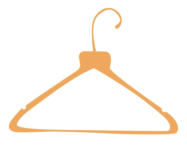 Wooden clothes rack. clothes hangers. boutique, cloakroom or shop storage.