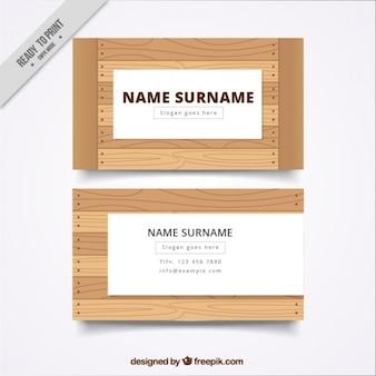 Деревянная карточка компании