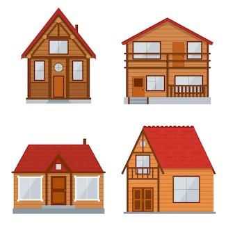 Деревянный загородный дом или домашний набор