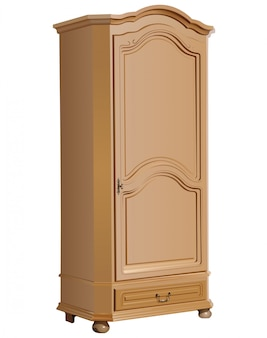 Wooden decorated cupboard