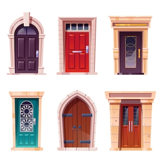 Wooden doors medieval and modern style entries
