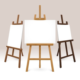 Wooden easel set