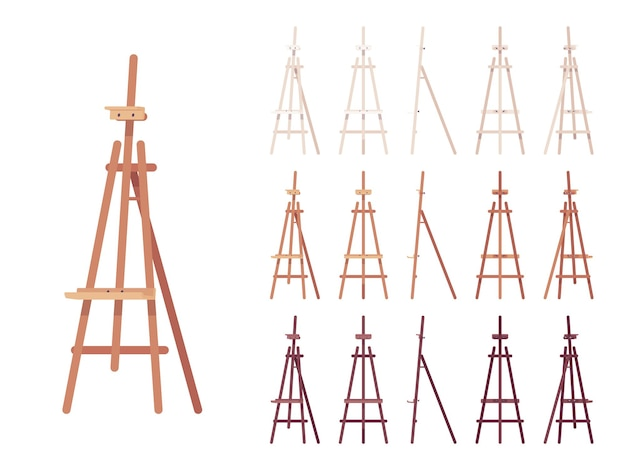 Wooden easel stand set