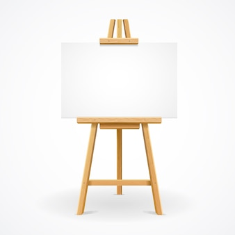 Wooden easel template for text or ad.