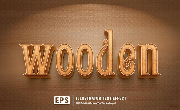 Wooden effect - editable