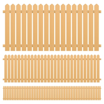 Wooden fence   design illustration isolated