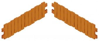 Деревянный забор дизайн на белом фоне