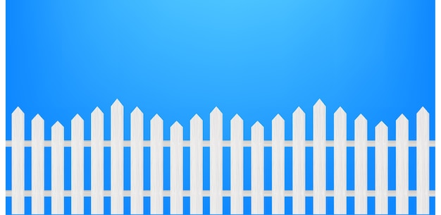 Wooden fence and grass illustration