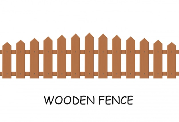 Wooden fence.  illustration of a fence outside.