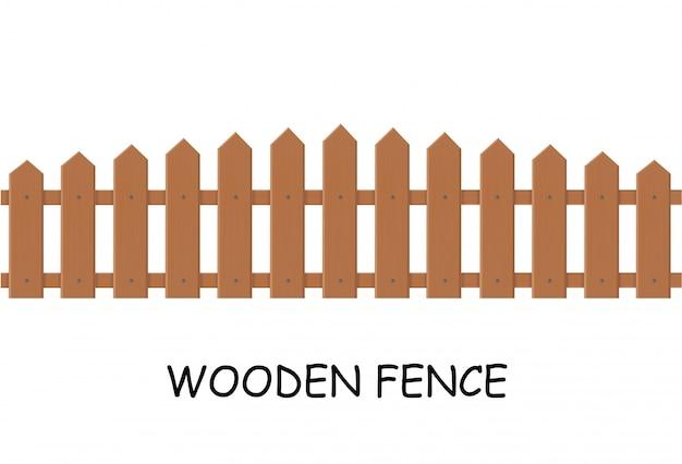 木製のフェンス。外のフェンスのイラスト。