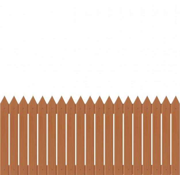 Wooden fence illustration  on white background.set icons fence made from  illustration