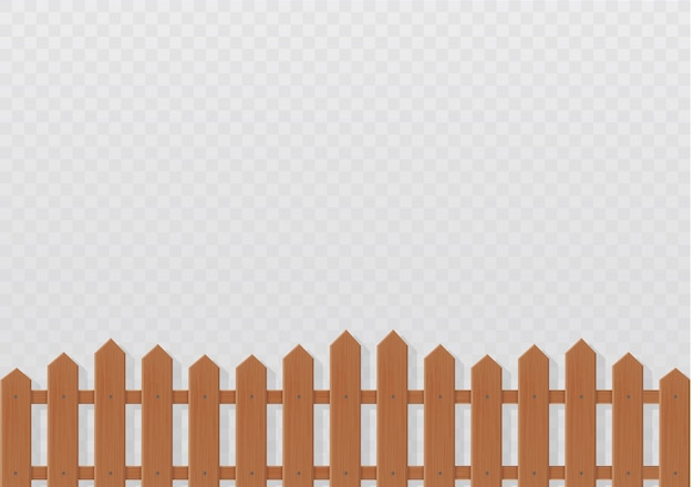 Wooden fence illustration  on white background.set icons fence made from  illustration