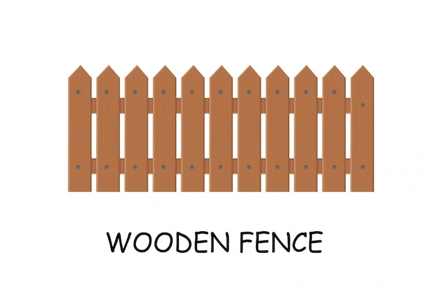 Wooden fence. vector illustration of a fence outside.